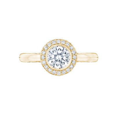 Tacori 305-25RD-6Y Starlit Yellow Gold Round Engagement Ring