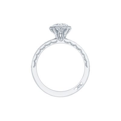 Tacori 305-25RD White Gold Round Engagement Ring side