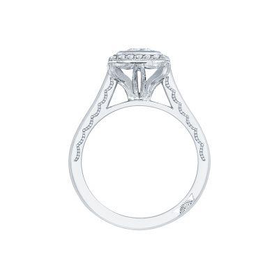 Tacori 306-25PR-5 Platinum Princess Cut Engagement Ring side
