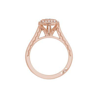Tacori 306-25PR-5PK Rose Gold Princess Cut Engagement Ring side
