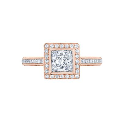 Tacori 306-25PR-5PK Starlit Rose Gold Princess Cut Engagement Ring