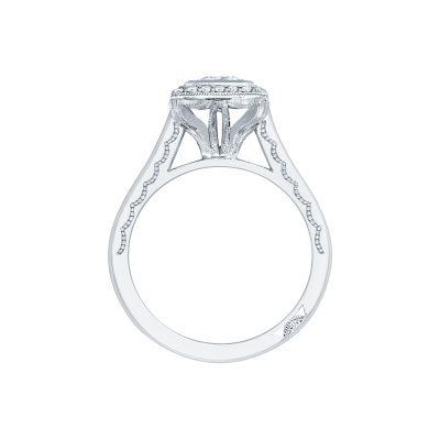 Tacori 306-25PR White Gold Princess Cut Engagement Ring side