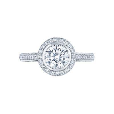 Tacori 306-25RD-6 Starlit Platinum Round Engagement Ring
