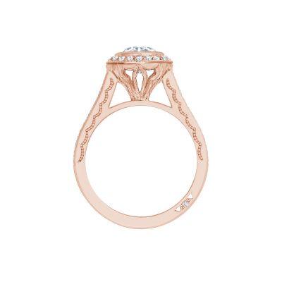 Tacori 306-25RD-6PK Rose Gold Round Engagement Ring side