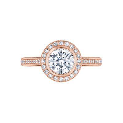 Tacori 306-25RD-6PK Starlit Rose Gold Round Engagement Ring