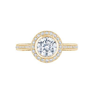 Tacori 306-25RD-6Y Starlit Yellow Gold Round Engagement Ring