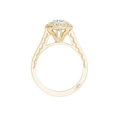 Tacori 306-25RD-6Y Yellow Gold Round Engagement Ring side