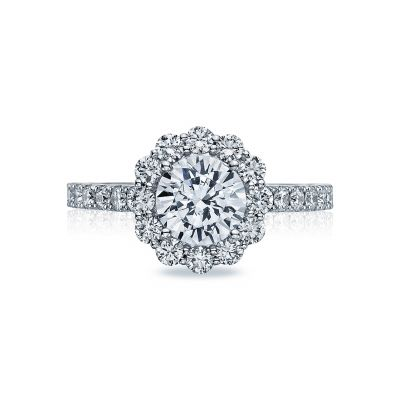 Tacori 37-2RD Full Bloom White Gold Round Engagement Ring