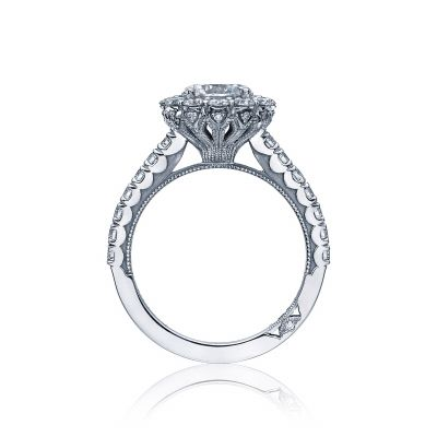Tacori 37-2RD White Gold Round Engagement Ring side