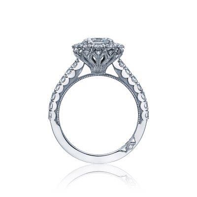 Tacori 37-2RD7 Platinum Round Engagement Ring side