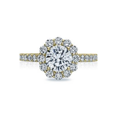 Tacori 37-2RD7-Y Full Bloom Yellow Gold Round Engagement Ring