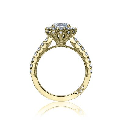 Tacori 37-2RD7-Y Yellow Gold Round Engagement Ring side