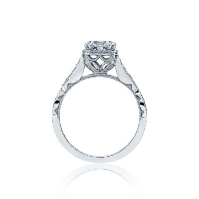 Tacori 39-2CU White Gold Round Engagement Ring side