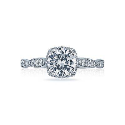 Tacori 39-2CU65 Dantela Platinum Round Engagement Ring