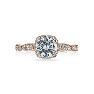 Tacori 39-2CU65-PK Dantela Rose Gold Round Engagement Ring