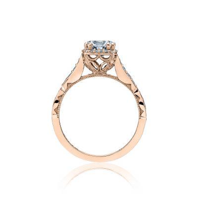 Tacori 39-2CU65-PK Rose Gold Round Engagement Ring side