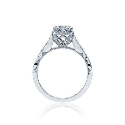 Tacori 39-2CU65 Platinum Round Engagement Ring side