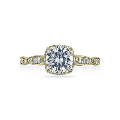 Tacori 39-2CU65-Y Dantela Yellow Gold Round Engagement Ring