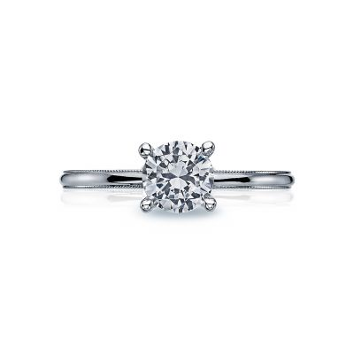 Tacori 40-15RD Sculpted Crescent White Gold Round Engagement Ring