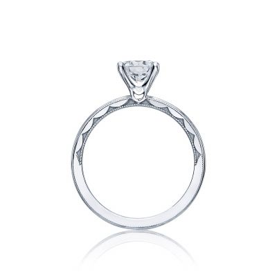 Tacori 40-15RD White Gold Round Engagement Ring side