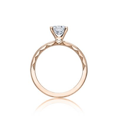 Tacori 40-15RD6-PK Rose Gold Round Engagement Ring side
