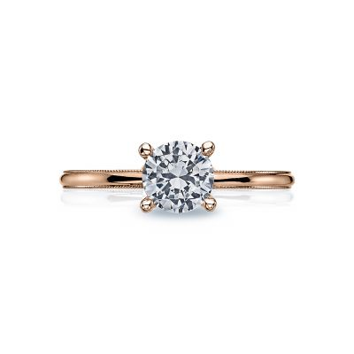 Tacori 40-15RD6-PK Sculpted Crescent Rose Gold Round Engagement Ring