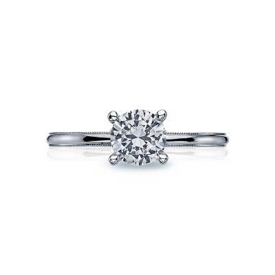 Tacori 40-15RD6 Sculpted Crescent Platinum Round Engagement Ring