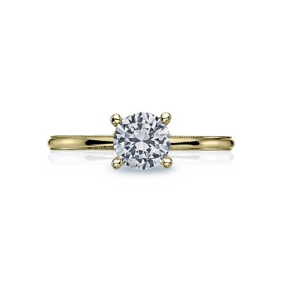 Tacori 40-15RD6-Y Sculpted Crescent Yellow Gold Round Engagement Ring
