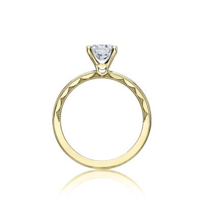 Tacori 40-15RD6-Y Yellow Gold Round Engagement Ring side
