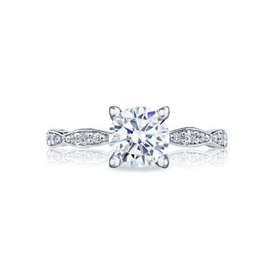 Tacori 46-2RD Sculpted Crescent White Gold Round Engagement Ring