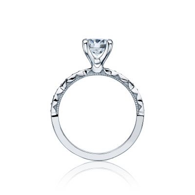 Tacori 46-2RD White Gold Round Engagement Ring side
