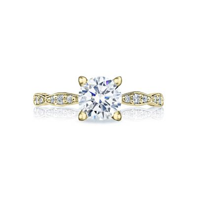 Tacori 46-2RD65-Y Sculpted Crescent Yellow Gold Round Engagement Ring