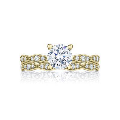 Tacori 46-2RD65-Y Yellow Gold Round Elegant Style Engagement Ring set