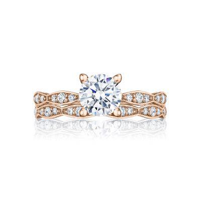 Tacori 46-2RD6PK Rose Gold Round Classic Style Engagement Ring set