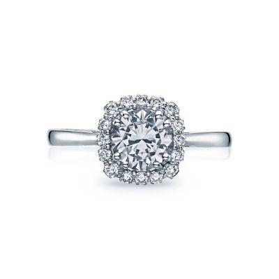 Tacori 55-2CU Full Bloom White Gold Round Engagement Ring