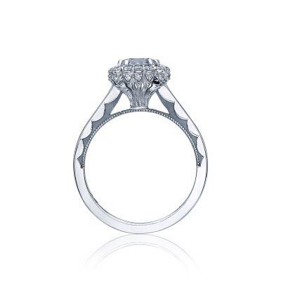 Tacori 55-2CU White Gold Round Engagement Ring side