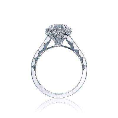 Tacori 55-2CU65 Platinum Round Engagement Ring side