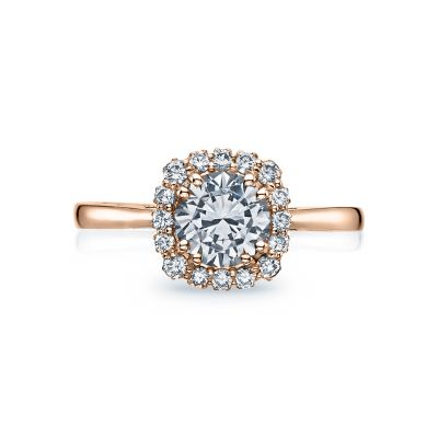 Tacori 55-2CU65PK Full Bloom Rose Gold Round Engagement Ring