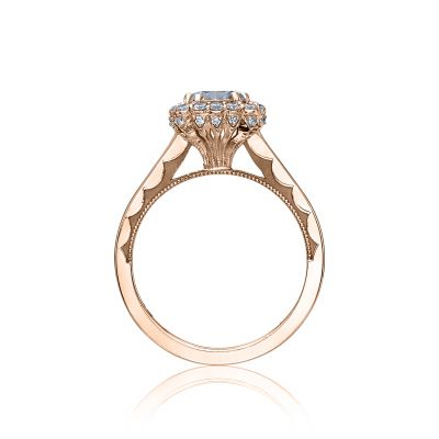 Tacori 55-2CU65PK Rose Gold Round Engagement Ring side
