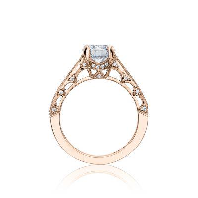Tacori HT251012X-PK Rose Gold Round Engagement Ring side