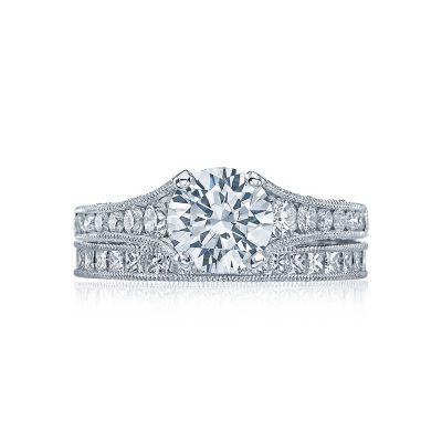 Tacori HT251012X Platinum Round Contemporar Engagement Ring set