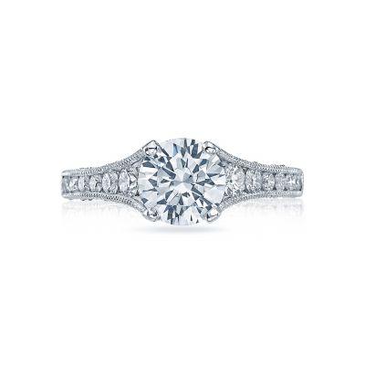 Tacori HT251012X Reverse Crescent Platinum Round Engagement Ring
