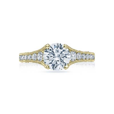 Tacori HT251012X-Y Reverse Crescent Yellow Gold Round Engagement Ring