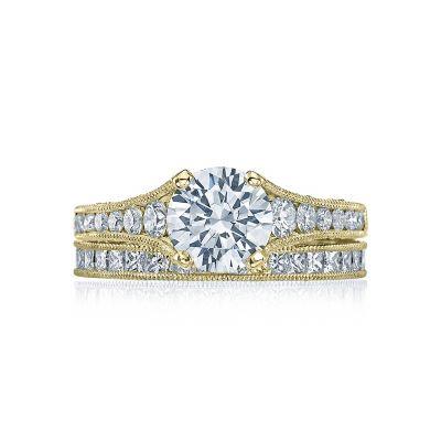 Tacori HT251012X-Y Yellow Gold Round Elegant Style Engagement Ring set