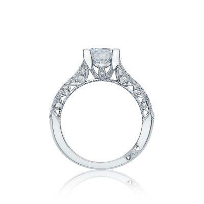 Tacori HT2513RD Classic Crescent White Gold Round Engagement Ring