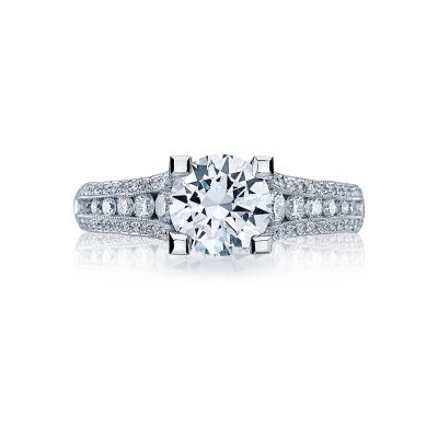 Tacori HT2513RD White Gold Round Engagement Ring side