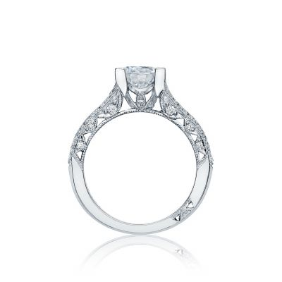 Tacori HT2513RD7512X Classic Crescent Platinum Round Engagement Ring