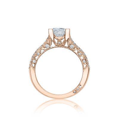 Tacori HT2513RD7512X-PK Classic Crescent Rose Gold Round Engagement Ring