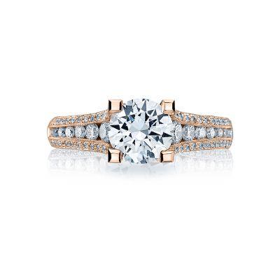 Tacori HT2513RD7512X-PK Rose Gold Round Engagement Ring side