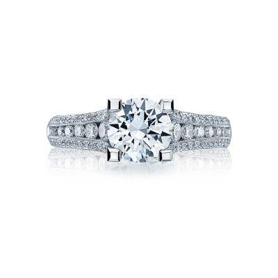 Tacori HT2513RD7512X Platinum Round Engagement Ring side